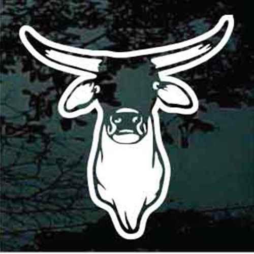 Bull Head Shoulder Window Decals