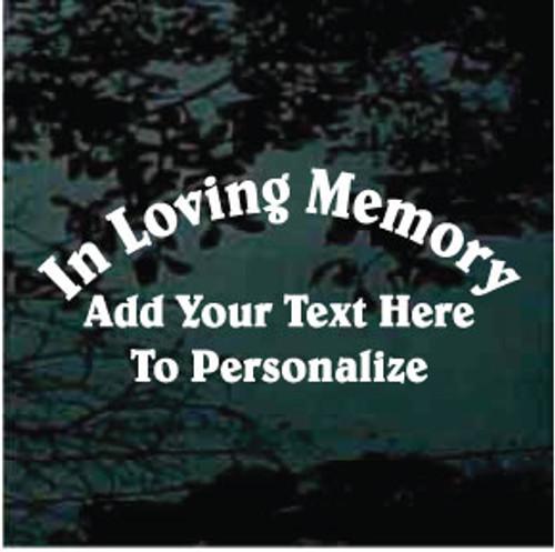 Belwe Text Memorial Window Decals