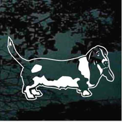 Basset Hound Standing Window Decal