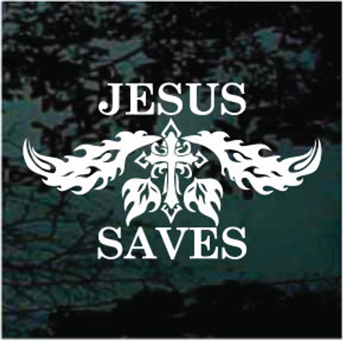 Trbal Cross Custom Jesus Saves