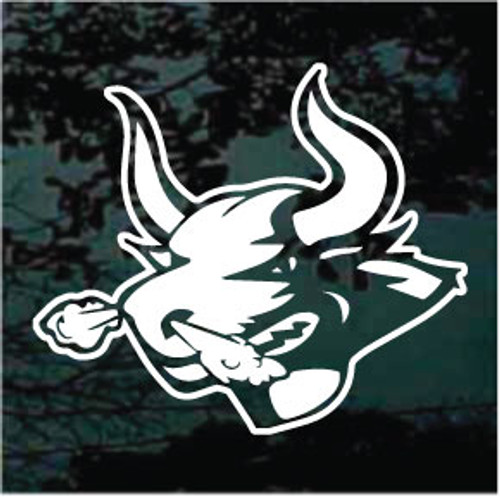 Snorting Bull Head Mascot Window Decals