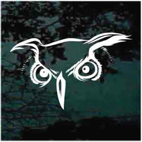 Fierce Owl Eyes Window Decal