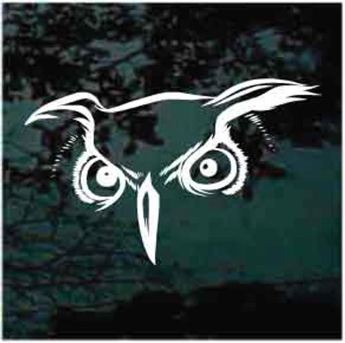 Fierce Owl Eyes Window Decals