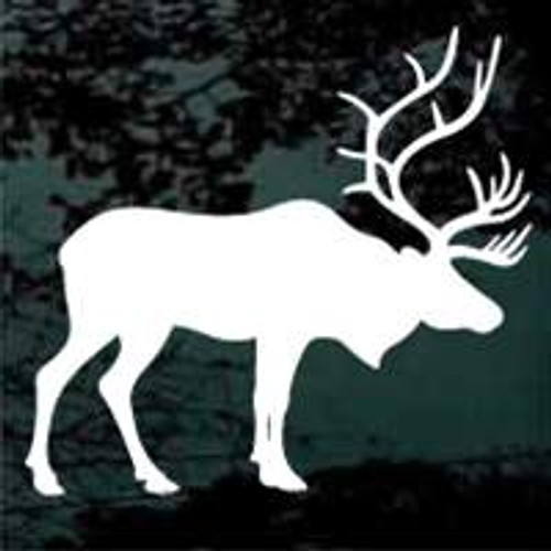 Mature Bull Elk Looking Window Decals