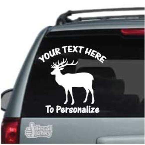 Bull Elk Looking Car Decals