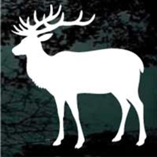 Bull Elk Looking Window Decals