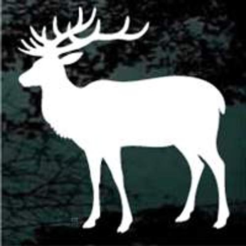 Bull Elk Looking Window Decals