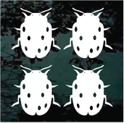 Solid Ladybug Set Of 4 Decals