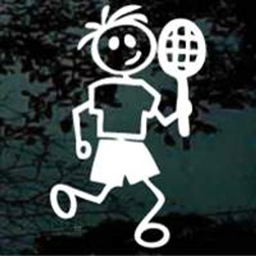 Stick Family Boy Tennis Player