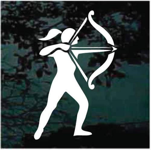 Girl Archery Window Decals