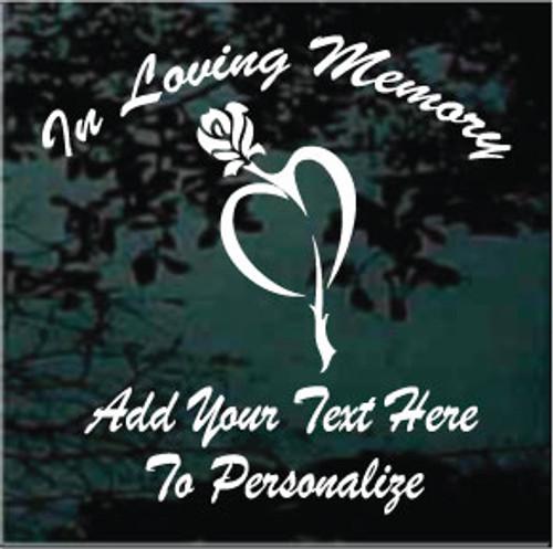 Rose Heart Memorial Decals