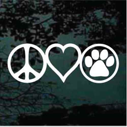 Peace Love Dogs Decals