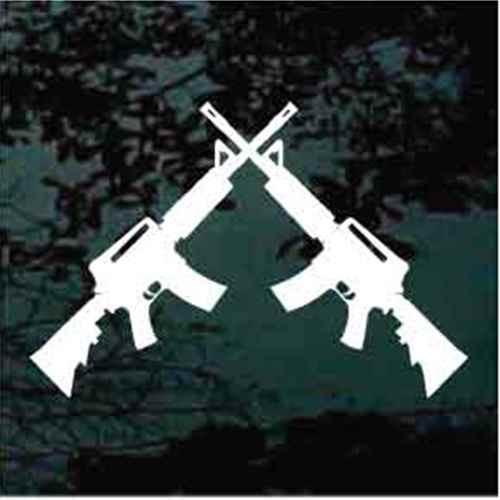 Assault Rifles Crossed