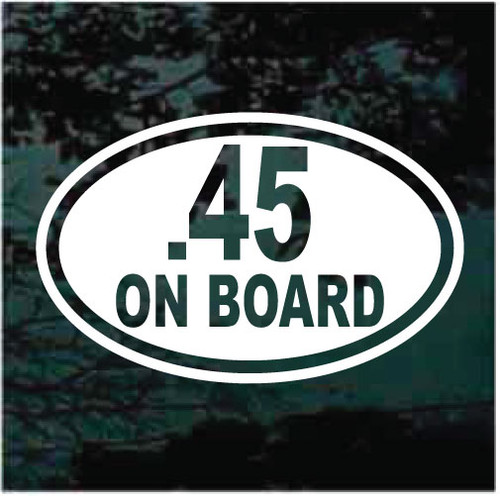 45 On Board Oval Decals