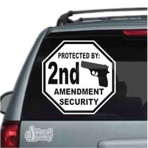 Protected By 2nd Amendment Security Car Decal