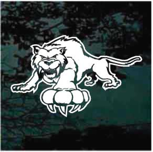 Snarling Wildcats Mascot Window Decals