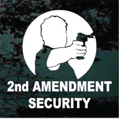 2nd Amendment Security Window Decals