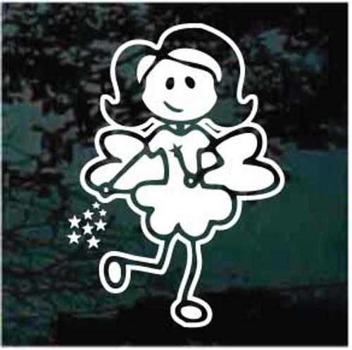 Stick Family Girl Fairy Window Decal