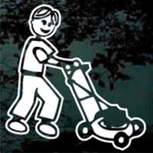 Cartoon Family Lawnmower Man 01
