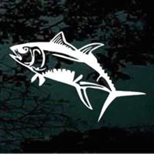 Swimming Yellowfin Tuna Window Decals