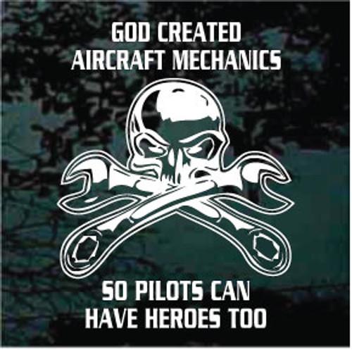 God Created Aircraft Mechanics Decals
