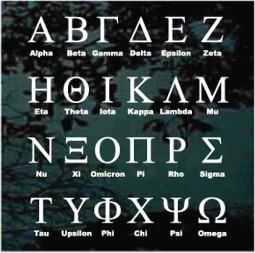 Sorority Greek Letter Monogram