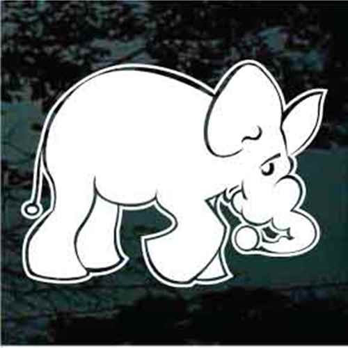 Cartoon Elephant Window Decals