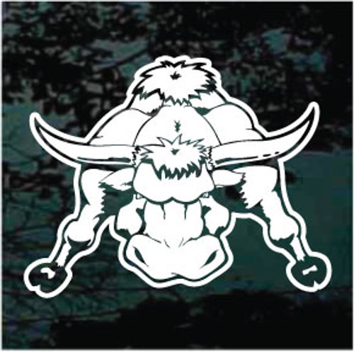 Charging Bull Mascot Window Decals