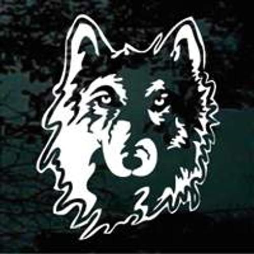Custom Wolf Head Window Decals