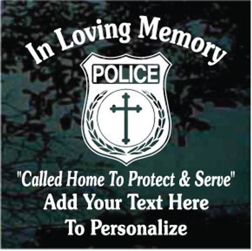 Law Enforcement Police Officer Memorial Decals