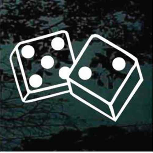 Lucky Seven Dice Decals