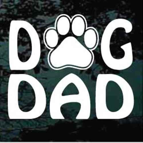 Dog Dad Paw Print Window Decal