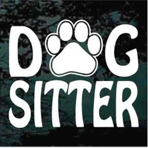 Dog Sitter Paw Print Window Decal