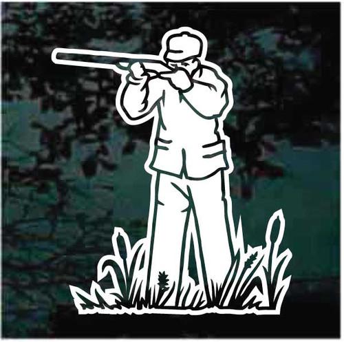 Bird Hunter Aiming Shotgun Decals