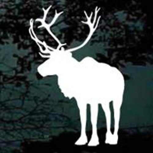 Caribou Standing Silhouette