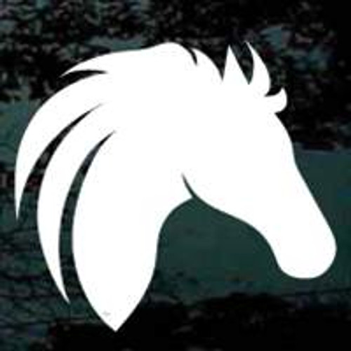 Horse Head Silhouette Decals