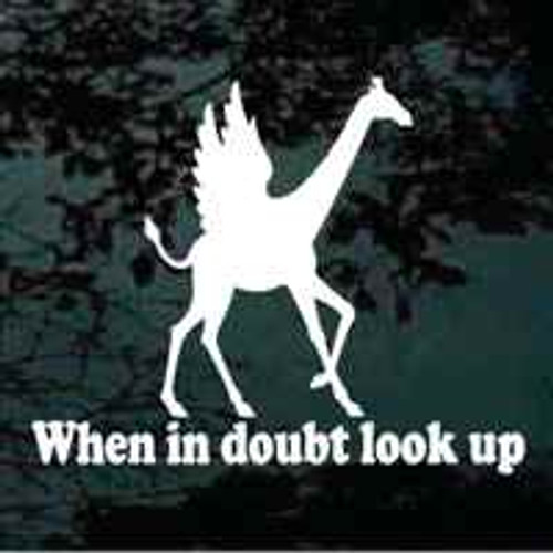 When In Doubt Look Up Giraffe