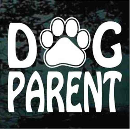 Dog Parent Paw Print Window Decal