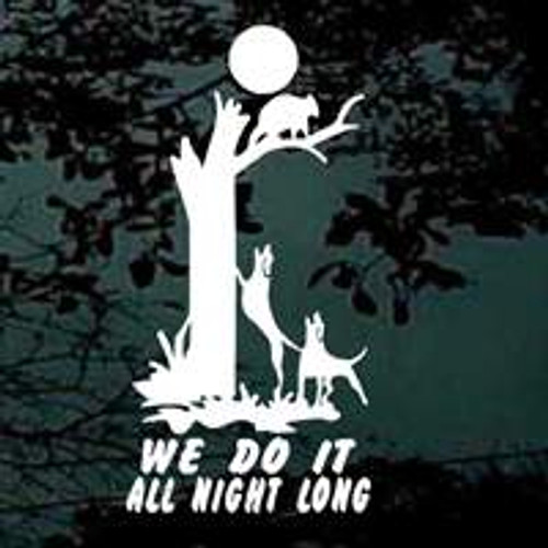 Coon Hunting We Do It All Night Long Decals