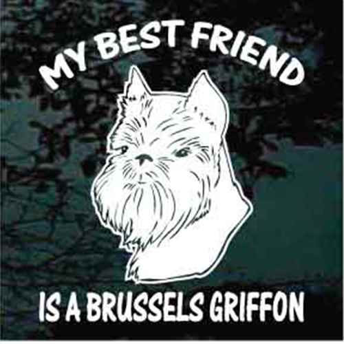 Brussels Griffon Head Best Friend Window Decal