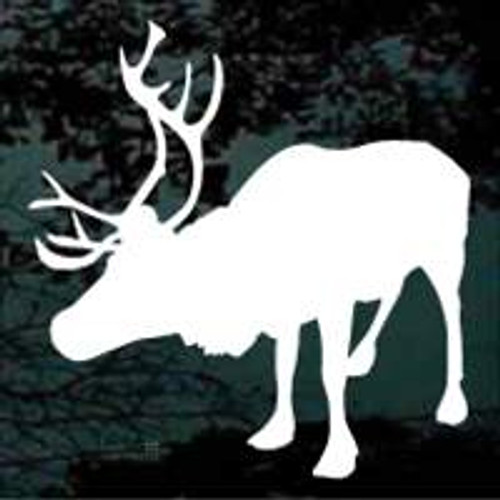 Caribou Looking Silhouette