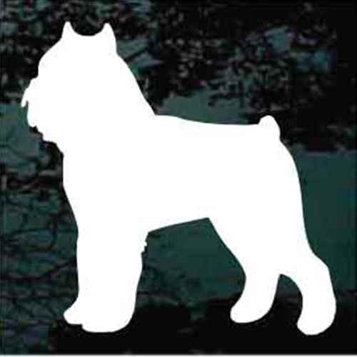 Brussels Griffon Silhouette Window Decal