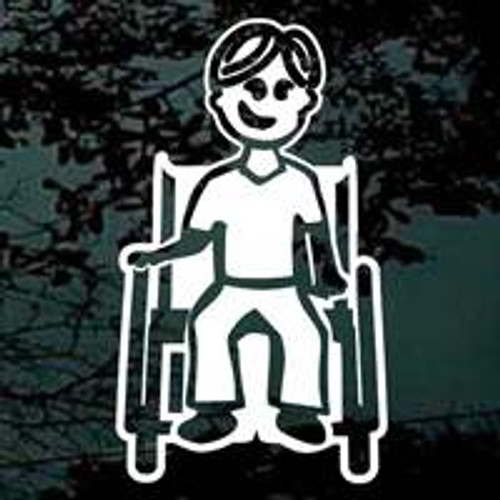 Cartoon Family Dad In Wheelchair