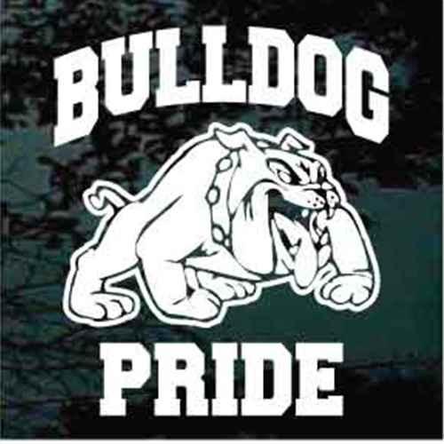 Bulldog Pride Mascot Window Decals