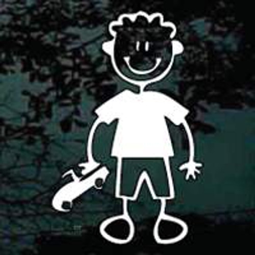 Stick Family Boy With Truck