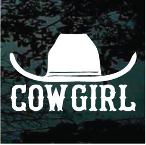Cowgirl Hat Sign Window Decals