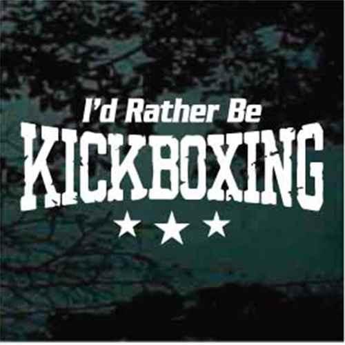 I'd Rather Be Kickboxing
