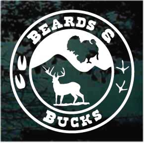 Beards & Bucks Window Decal