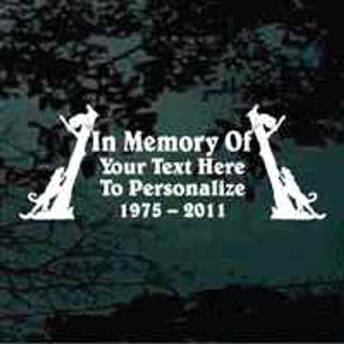Coon Hunting Memorial Window Decal