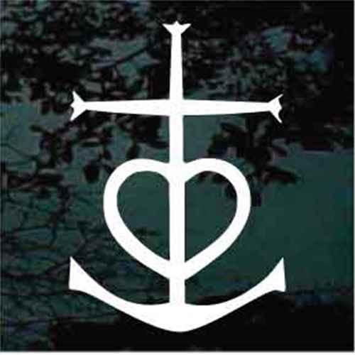 Heart Cross Anchor Tattoo
